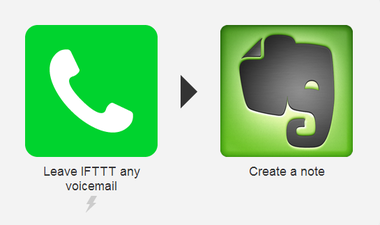 voicemail evernote