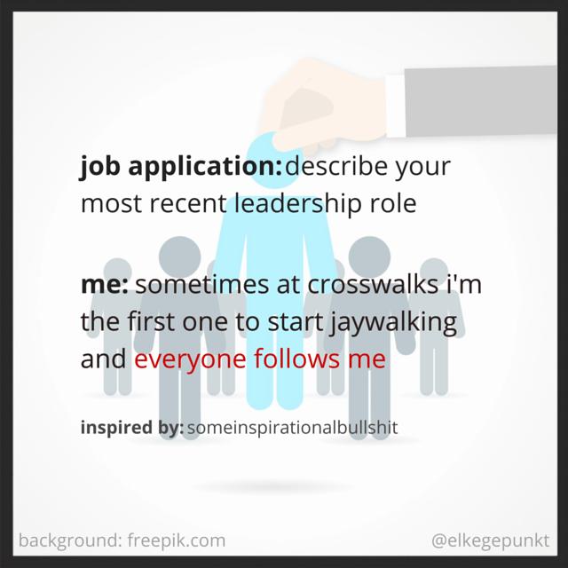 MY JOB APPLICATION - EVERYONE FOLLOWS ME