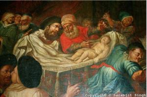 Иудеи приносят в жертву младенца