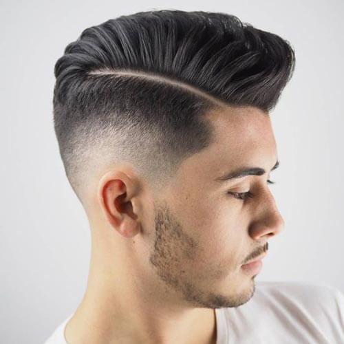 pompadour fade haircut guide