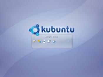 Figure 3: Loading the Kubuntu desktop