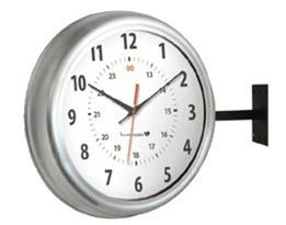 Hanging Brushed Aluminium Clock IW-2