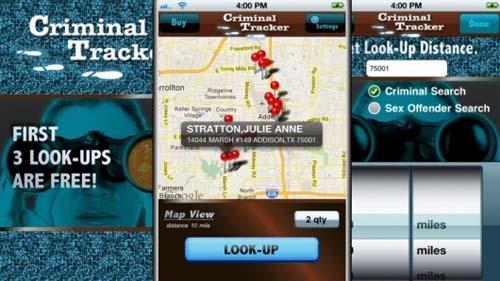 苹果手机新应用:地图上大范围追踪罪犯