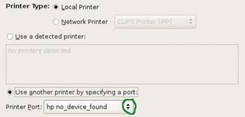 Figure 7: Configure printer port