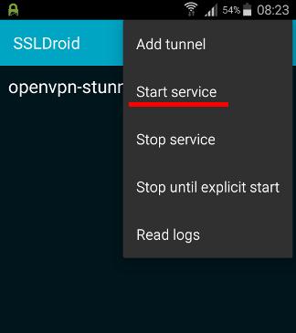 SSLDroid service start