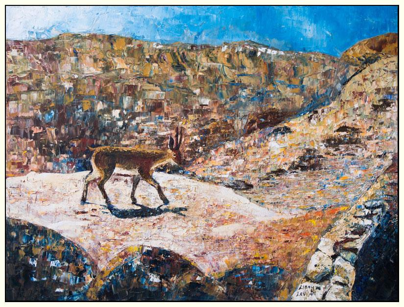 Deserted by Linoy Lev Ari - original oil painting for sale