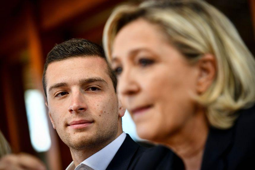 Jordan Bardella et Marine Le Pen.