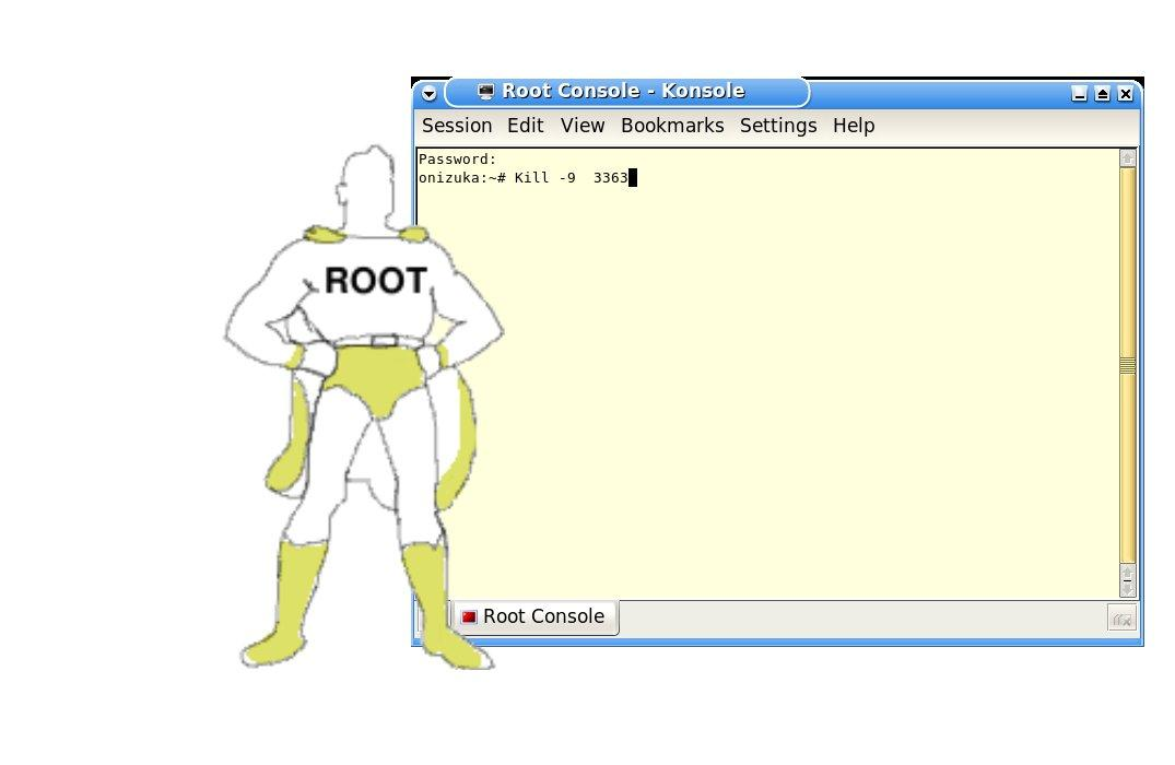 The user Root is no normal user!