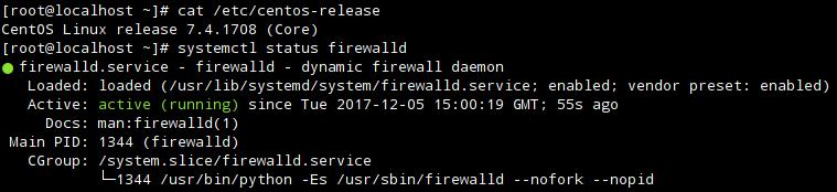 Firewalld в CentOS 7.4.1708