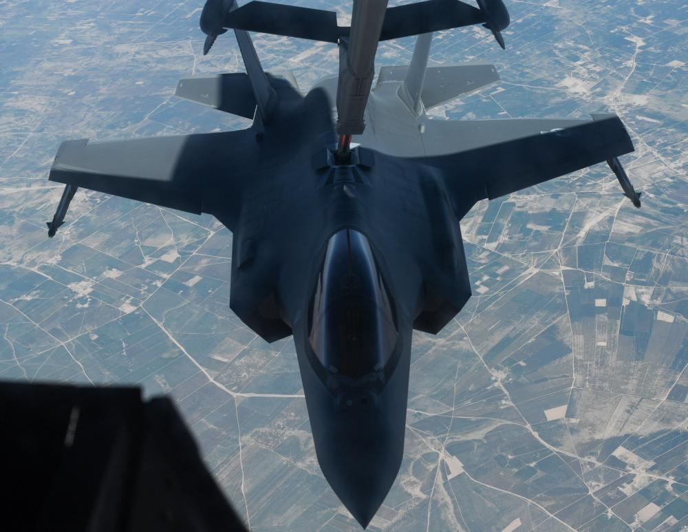 KC-10 supports F-35A's first combat sortie