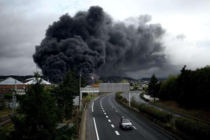 Incendie à l'usine Lubrizol, à Rouen, le 26 septembre               2019.