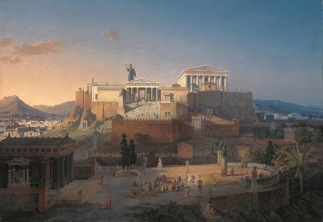 L'Acropole d'Athènes par Leo von Klenze.