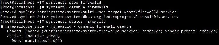 Firewalld отключен