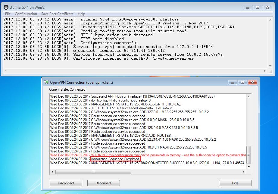 OpenVPN и stunnel в Windows