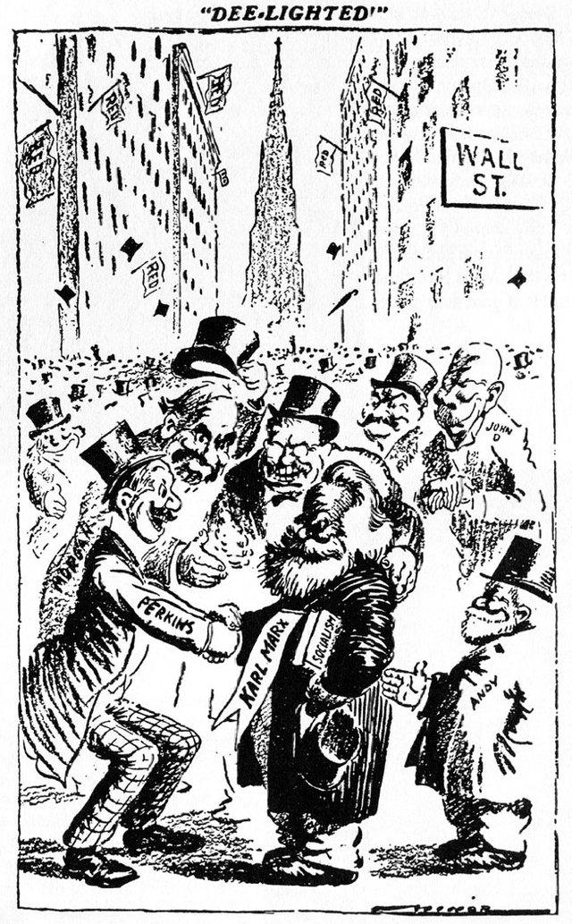 Image result for image of Cartoon by Robert Minor in St. Louis Post-Dispatch (1911). Karl Marx
