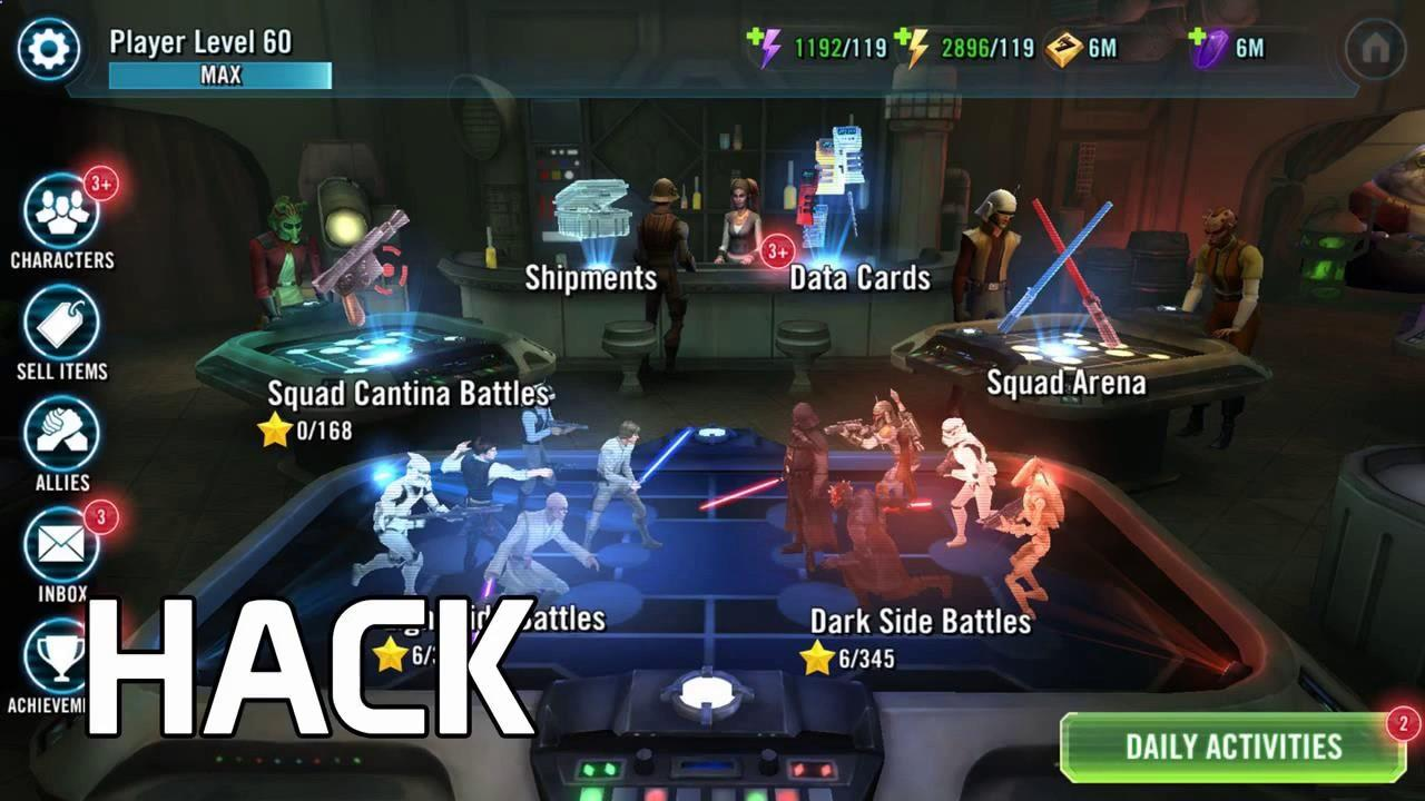 Star Wars Galaxy of Heroes Unlimited Crystals No Human