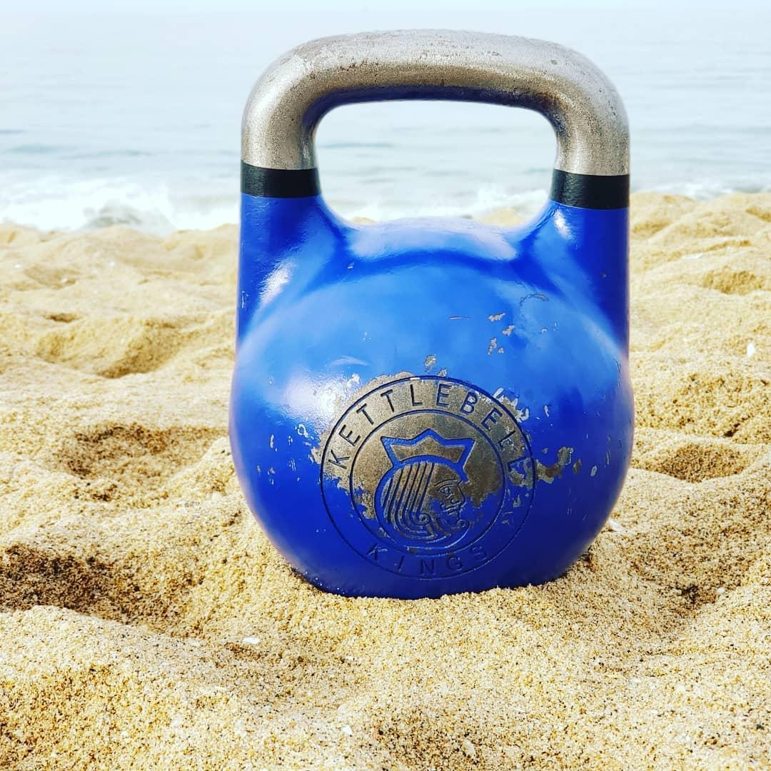 Living MY ideal life! Which happens to include kettlebells and the beach.…
