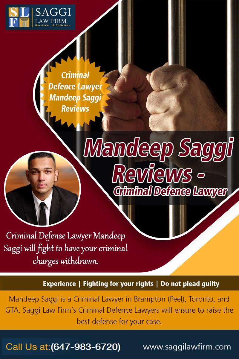 Mandeep Saggi Reviews -  Criminal Defence Lawyer