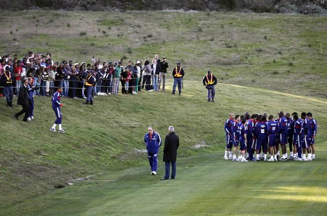 Afrique du Sud, grève de l'équipe de France lors du Mondial. © (Reuters)