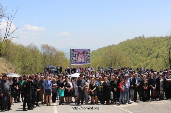 В Южной Осетии почтили память жертв Зарской трагедии. Фото