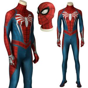 Game SPIDERMAN PS4 Spiderman Costume Superhero Cosplay Adult ...