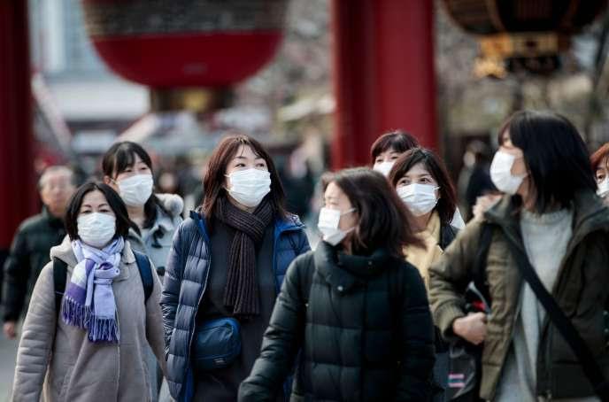 Au temple Sensoji à Tokyo, le 3 février.