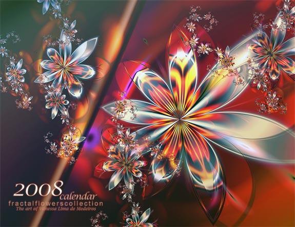 2008 Fractal Flowers Calendar