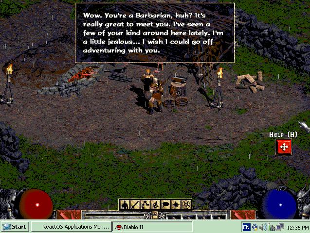 Запустить Diablo II можно, играть — вряд ли