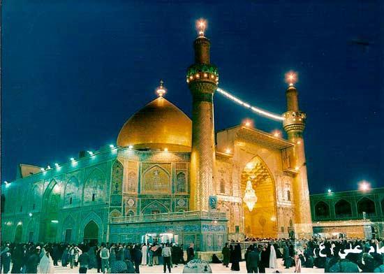 Мечеть в Наджафе, могила халифа Али
