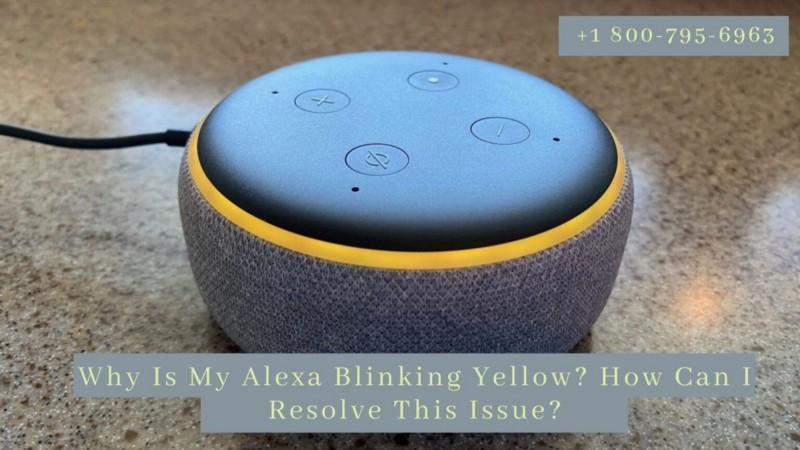 Alexa Blinking Yellow Instant Fix -Call 1-8007956963 Yellow Light On Alexa Fixes