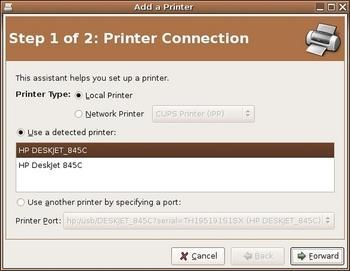 Figure 2: Add a printer