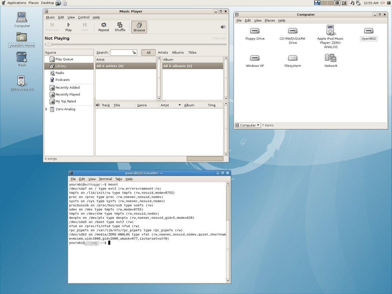 Figure 6: iPod, plug and play, Debian style