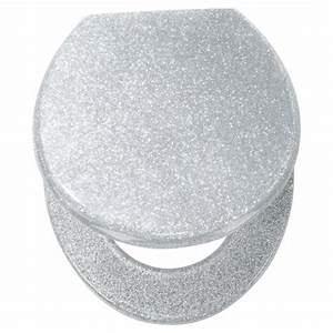 silver glitter toilet seat
