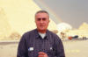 Радуга над пирамидой Хеопса.