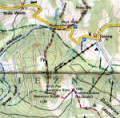Mapa okolic Czarnej Góry