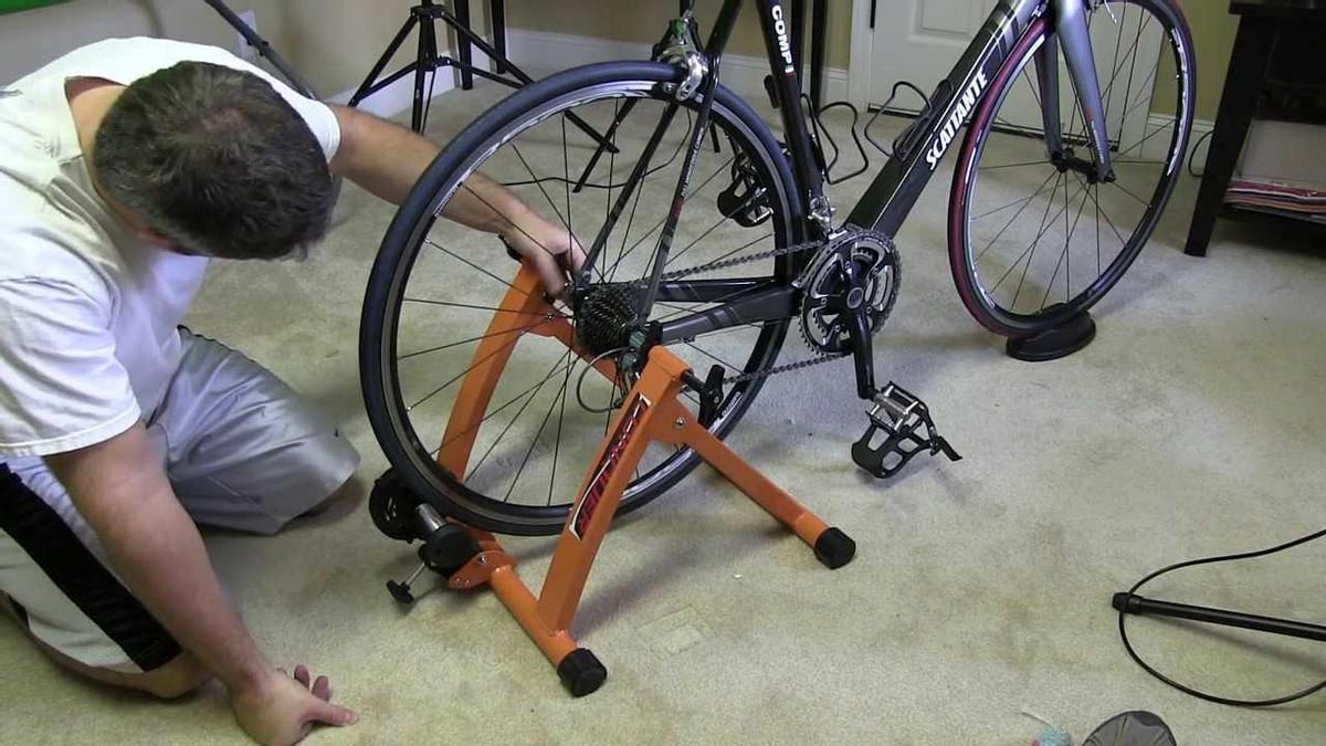 stationary bike stand