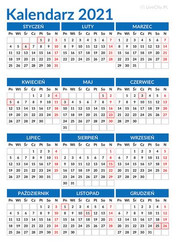 Kalendarz 2021 do druku za darmo - PDF i JPG