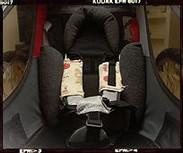 Wnętrze przyczepki CTS-Cougar z wkłądką Baby Supporter dla małych dzieci