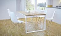 stół metal i drewno