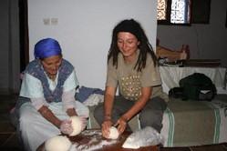 making Moroccan bread