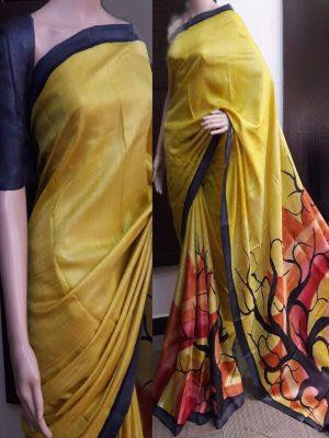 https://b4ufashioncollection.com/product/traditional-printed-mustard-colour-satin-silk-indian-saree/