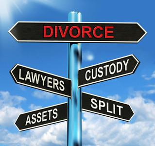 bigstock-Divorce-Signpost-Means-Custody-