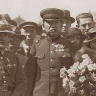 Japoński attache wojskowy w Polsce płk Masataka Yamawaki. Fragment zdjęcia z Ilustrowanego Kuriera Codziennego.