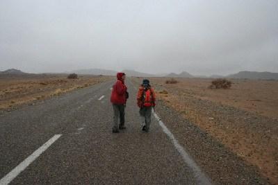 towards the desert