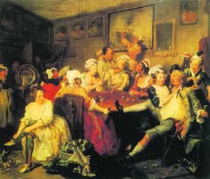 William Hogarth - Orgia w gospodzie