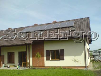 Instalacja kolektorów słonecznych do podgrzewania wody uzytkowej oraz wspomagania centralnego ogrzewania