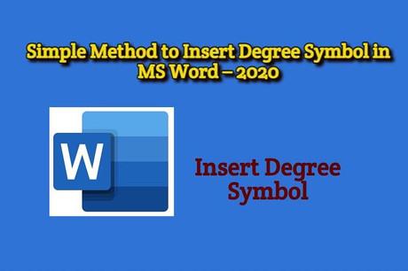Degree Symbol in Word 2021