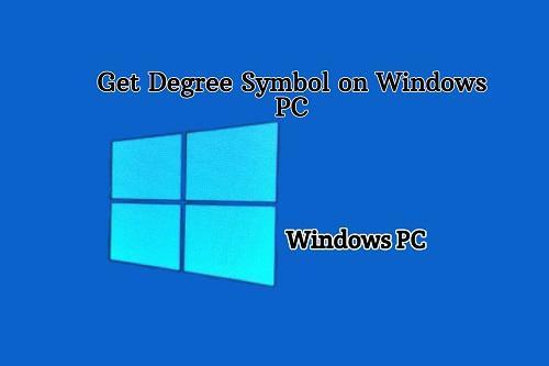 Insert Degree Symbol from Windows