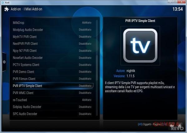 IPTV simple client kodi