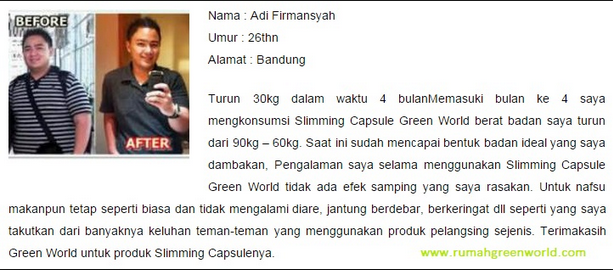 Obat Pelangsing Slimming Capsule Green World